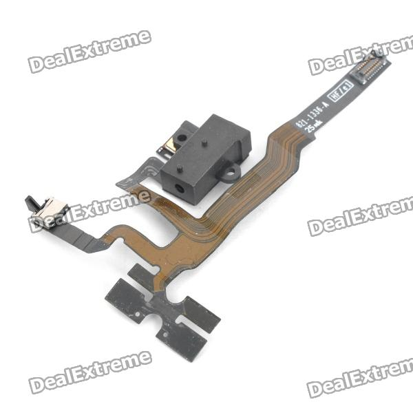 Genuine Repair Part Replacement Headphone Audio Jack Flex Cable for Iphone 4S genuine murray part cable drive 22 wbm