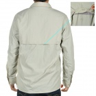 Fashion Quick-Dry Outdoor Sun Protective Shirt with Removable Sleeves - Beige (Size L)