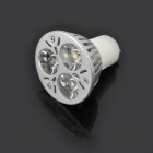 GU10 3W 6500K 200-Lumen 3-LED White Light Bulb (100 ~ 245V)