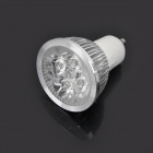 GU10 4W 3500K 300-Lumen 4-LED Warm White Light Bulb (100~245V)