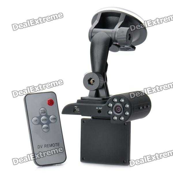 "5MP CMOS Weitwinkel Auto DVR Camcorder w / 8-LED IR Nachtsicht / AV-Out / TF (2 ""LCD)"