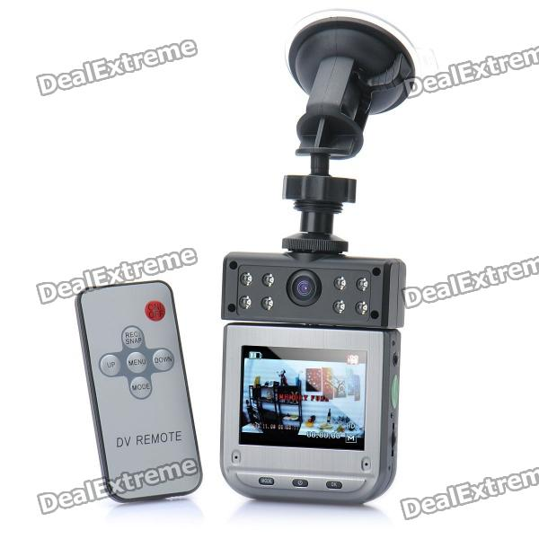 "Mini Weitwinkel Auto DVR Camcorder w / 8-LED Night Vision / AV-Out / TF (2,5 ""LCD)"