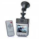 "Mini Wide Angle Car DVR Camcorder w/ 8-LED Night Vision / AV-Out / TF (2.5"" LCD)"