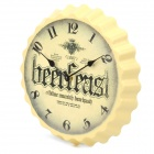 Beer Cap Style Wall Mounted Clock - Random Color (1 x AA)