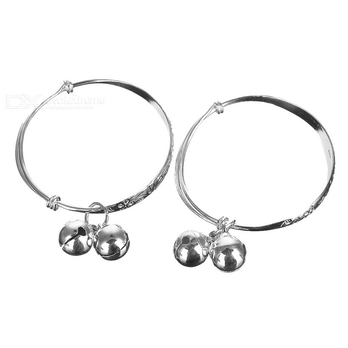 925 Silver Plated Lady's Bracelets (2-Pack) диски helo he844 chrome plated r20