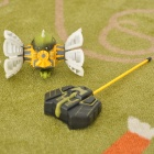 49MHz R/C Plasmodium Model Toy w/ Light & Music Effects - White + Yellow + Green