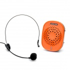 Genuine Lanbo Portable Rechargeable Voice Amplifier Speaker with FM/Mini USB/TF - Black + Orange