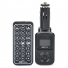 "1.1"" LCD Car MP3 Player FM Transmitter w/ SD/USB - Black"