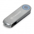 Genuine Transcend JetFlash 220 USB 2.0 Security Fingerprint Flash/Jump Drive - Blue + Grey (4GB)