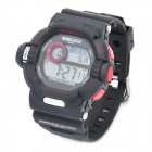 Outdoor Sports Waterproof Wrist Watch - Black