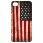 Stylish American Flag Pattern Protection Cover Case for Iphone 4 - Red + Blue