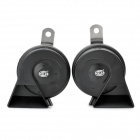 Auto Parts Car Electric Fanfare Horn Speaker - Black (Pair/12V)
