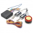 120-125dB Motorcycle Anti-Theft Security Alarm w/ Remote - Black