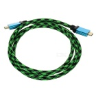1080P HDMI V1.4 M-M Connection Cable for XBOX360 - Black + Green (1.5M-Length)