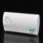 4600mAh Externe Mobile Battery Power Charger w / 4-LED White Lights & Charging Adapter - White