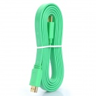 Gold Plated 1080P HDMI V1.4 M-M Flat Connection Cable for XBOX360 - Light Green (1.5M-Length)