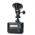 "2.4"" LCD 5.0 MP Wide Angle 4X Zoom Digital Car DVR Camcorder w/ Mini USB/SD/HD OUT/AV - Black"