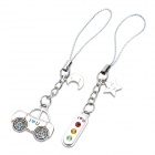 Valentine's Bus + Traffic Light Cell Phone Straps - Silver