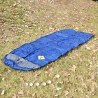 Camping Warm Rectangle Sleeping Bag w/ Hood - Blue