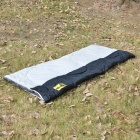 Folding 2-Person Warm Rectangle Sleeping Bag - Grey + Black