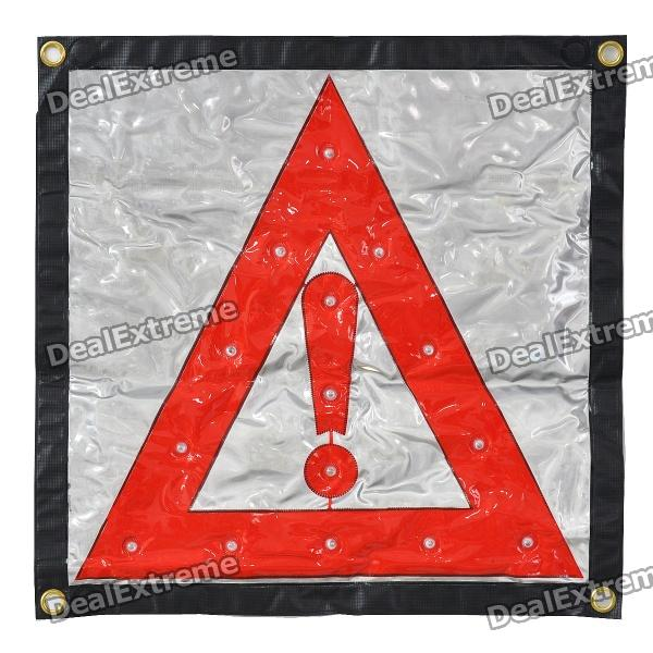 2-Mode 15-LED Red Light Flashing Reflective Warning Chevron (3 x AA)