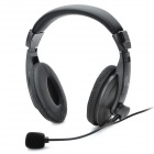 KANEN Stylish Gaming ON-Ear Stereo Headset Headphone w/ Microphone (3.5mm-Plug / 200cm-Cable)