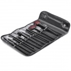 Portable Beauty Cosmetic Makeup Brush Set with Black Bag (12-Piece Pack)