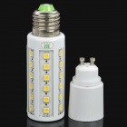 E27 8W 3300K 44x5050 LED Warm White Light Bulb w/ GU10 Adapter (220V)