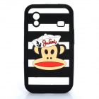 Paul Frank Image Style Protective Silicone Case for Samsung S5830 - Black + White