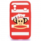Cute Paul Frank Style Protective Silicone Case for Samsung S5830 - Red
