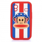 Paul Frank Image Style Protective Silicone Case for Samsung S5830 - Red
