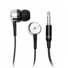 Stylish In-Ear Earphone w/ Microphone for Iphone - Black (3.5mm-Plug / 130cm-Cable)