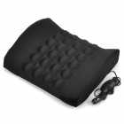 Car Cigarette Powered Electric Massage Lumbar Cushion Pad - Black (DC 12V)