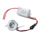 1W 6500K 80-Lumen 1-LED White Light Ceiling Down Lamp w/ Driver (AC 100~245V)