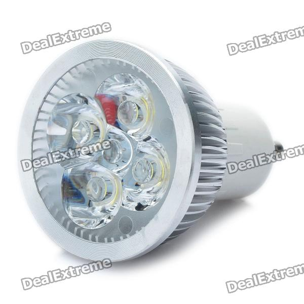 GU10 4W 6500K 300-Lumen 4-LED White Light Bulb (AC 100~245V)