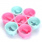 Cute Animals Shaped ABS Plastic Cookie Cutter Set - Pink + Light Blue (8-Piece Pack)