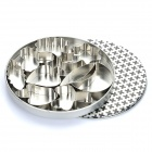 Stainless Steel Mousse / Cookie Cutters Set - Silver (9-Piece Set)