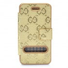 Protective Synthetic Leather Case with Magnet Buckle for iPhone 4 / 4S - Golden
