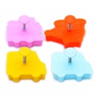 Cute Car Style 3D Plastic Cookie Cutter Set (4-Piece)
