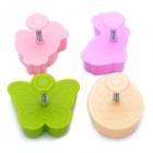 Cute Butterfly Style 3D Plastic Cookie Cutter Set (4-Piece)