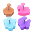 Cute Wooden Horse Style 3D Plastic Cookie Cutter Set (4-Piece)