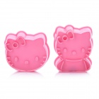 Cute Hello Kitty Style 3D Cookie Cutter Set (2-Piece)