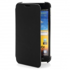 Protective Fiber Flip Cover Case for Samsung Galaxy Note i9220 - Black
