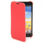 Protective Fiber Flip Cover Case for Samsung Galaxy Note i9220 - Red