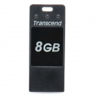 Genuine Transcend Jetflash T3 USB 2.0 Flash Drive - Black (8GB)