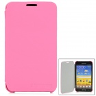Protective Fiber Flip Cover Case for Samsung Galaxy Note i9220 - Pink