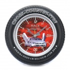 Stylish Car Tire Shape Alarm Clock - Random Color (1 x AA)