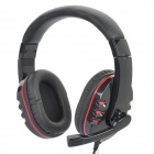 Kanen Stereo Headphone w/ Microphone - Red + Black (3.5mm Jack / 210cm-Length)