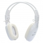 Fashion Happy 365 Headphone w/ MP3 / TF / FM - White (3.5mm Jack)