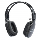 Fashion Happy 365 Headphone w/ MP3 / TF / FM - Black (3.5mm Jack)